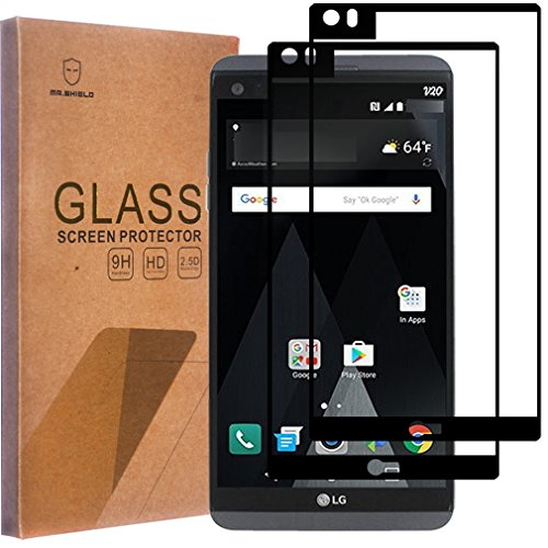 [2-Pack]-Mr.Shield for LG V20 [Tempered Glass] [Full Cover] [Black] Screen Protector with Lifetime Replacement
