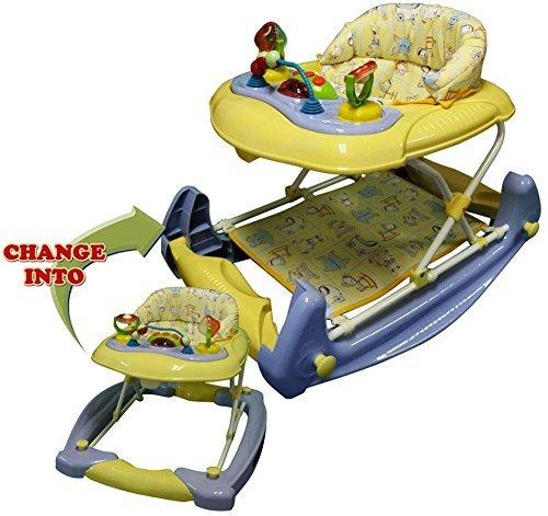 Big Oshi 2 In 1 Baby Activity Walker And Rocker, Purple/Banana