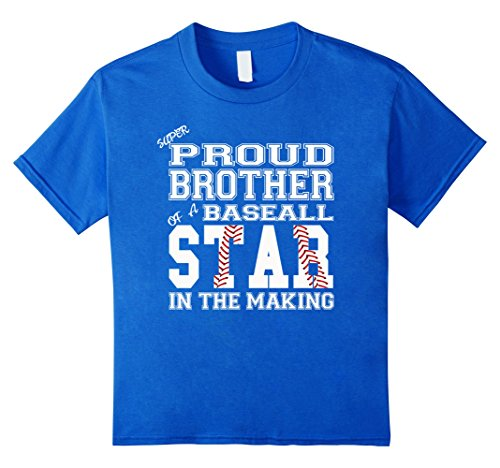 - unisex-child Proud Baseball Fan Shirt For Brother Of A Baseball Player 6 Royal Blue