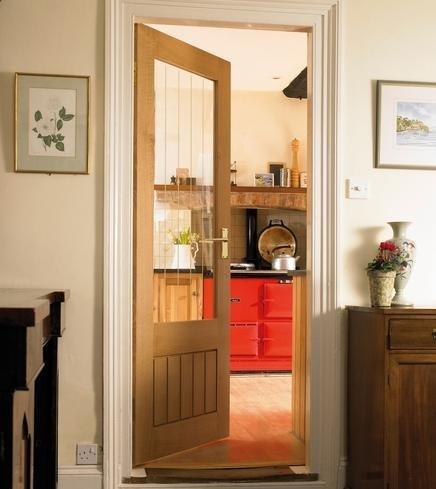 Dordogne Oak Glazed Door & Dordogne Oak Glazed Door: Amazon.co.uk: Kitchen u0026 Home