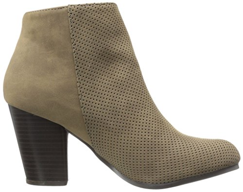 Qupid Women's Sake-108 Boot Dark Taupe 3TfE9