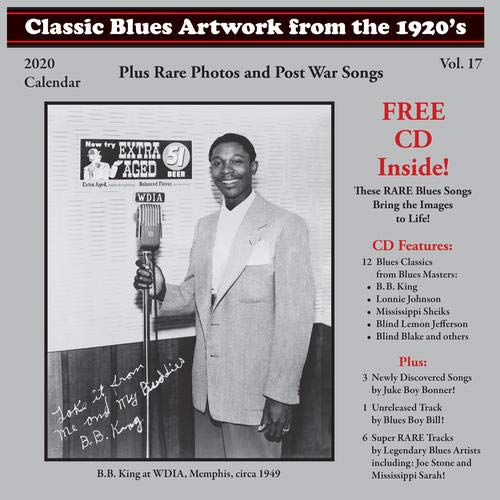 Classic Blues Artwork From The 1920S Calendar (2020) (Classic Blues Artwork From The 1920s Calendar)