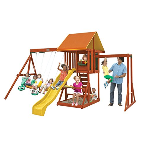 KidKraft Cedarbrook Wooden Playset (Wooden Swing Sets Small)
