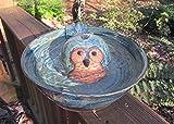 Ceramic Cat Drinking Fountain, Indoor Pet Water Feature, Handmade Wheel Thrown Pottery, Owl Design