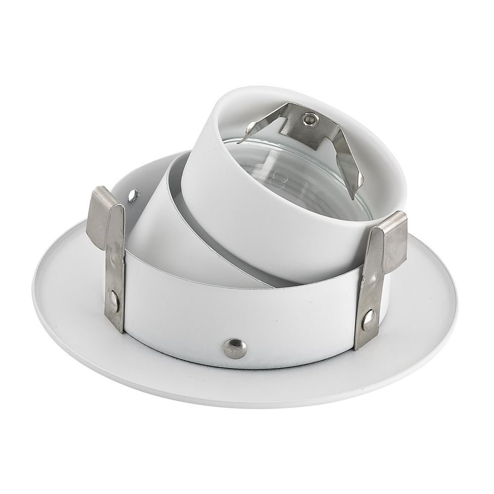GU10 Adjustable Recessed Trim with White Baffle for 3.5-Inch Recessed Cans by Dolan Designs (Image #2)