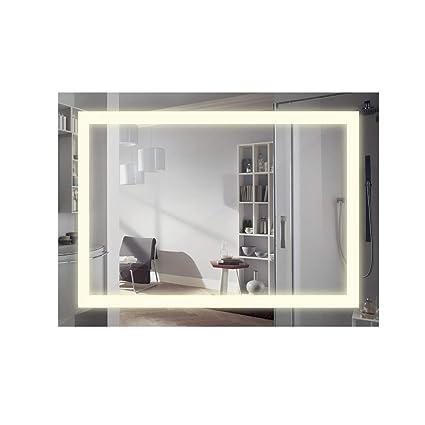 ANSCHE 800*600mm specchio per bagno da parete con luce, specchio da ...