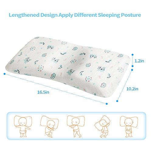 baby pillow for newborn prevent flat head soft memory foam protective toddler pillow support. Black Bedroom Furniture Sets. Home Design Ideas