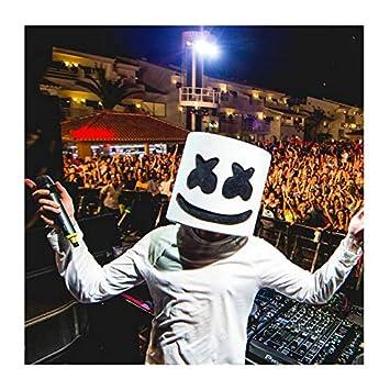 Máscara de Marshmallow para disfraz de Halloween, DJ ...