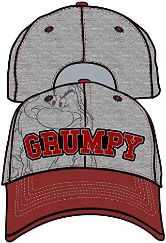 Disney Grumpy Hat (Disney Adult Baseball Hat (Adult Hat Grumpy Grumpier, Gray))
