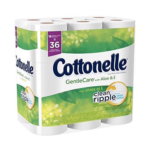 (Cottonelle GentleCare with Aloe & Vitamin E Double Roll Bath Tissue, 18 Count )