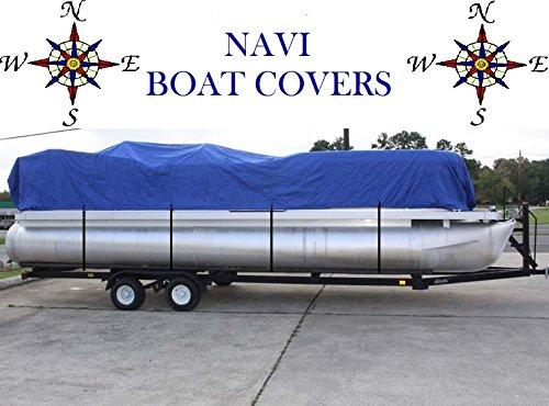 NAVI 14' - 16' BLUE MARINE CANVAS PONTOON BOAT COVER by Navi