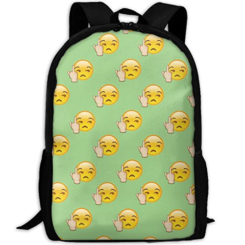 Emoji Fuck You Unique Outdoor Shoulders Bag Fabric Backpack Multipurpose Daypacks For - You Fuck Sunglasses