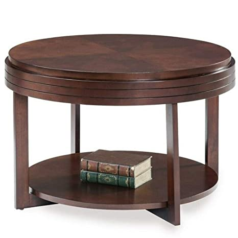 Swell Amazon Com Yeskela Round Coffee Table In Chocolate Cherry Dailytribune Chair Design For Home Dailytribuneorg