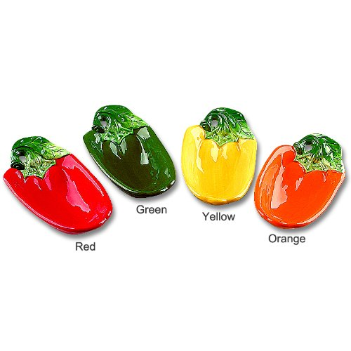 Bell Candy Dish (Ceramic Bell Pepper Table Top Serving Candy Dish Set of 4 Dishesb)