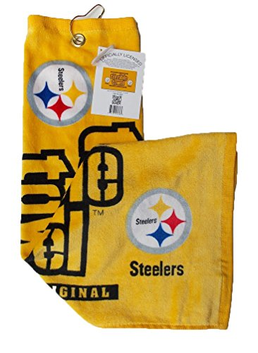 Steelers GOLF Terrible Towel w/Hasp 25x15
