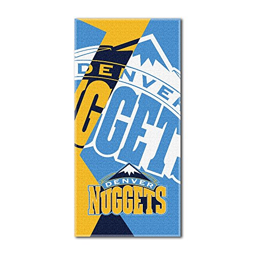 (Officially Licensed NBA Denver Nuggets Puzzle Beach Towel, 34