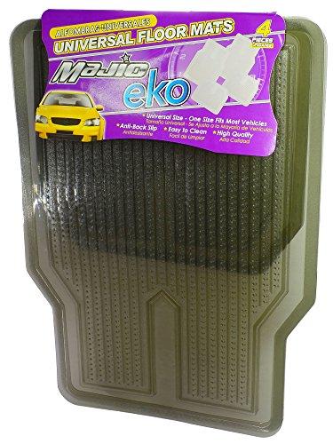 - Majic EKO 4-Piece Set Universal Fit Car/Truck/SUV/Van Floor Mats, Smoke