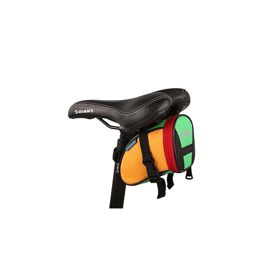 Roswheel Bike Saddl Seatpost Bag Fashion Fixed Gear Fixie Black Practical New (Colourful)