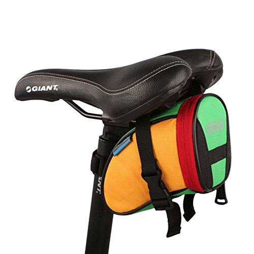 Roswheel Bike Saddl Seatpost Bag Fashion Fixed Gear Fixie Black Practical New (Colourful) by Roswheel