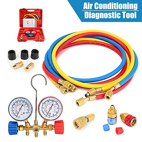 - BAGUIO STORE Car HVAC A/C Refrigeration Kit Manifold Gauge Set for R22 R12 R134A Auto Refrigerant H/L Quick Coupler Manifold Gauge Tool Set