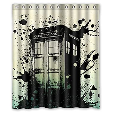 doctor who tardis Custom Waterproof Shower Curtain 60x72 Inch Bath Curtains