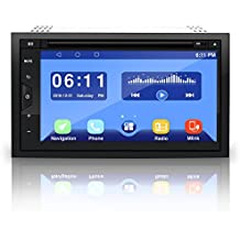 Pyle Car Stereo Receiver System - Double DIN Android Touch Screen Digital LCD Monitor with Backup Cam, USB, Bluetooth & GPS Navigation - CD DVD Player, Play MP3, AM FM Radio with Remote - PLDAND697