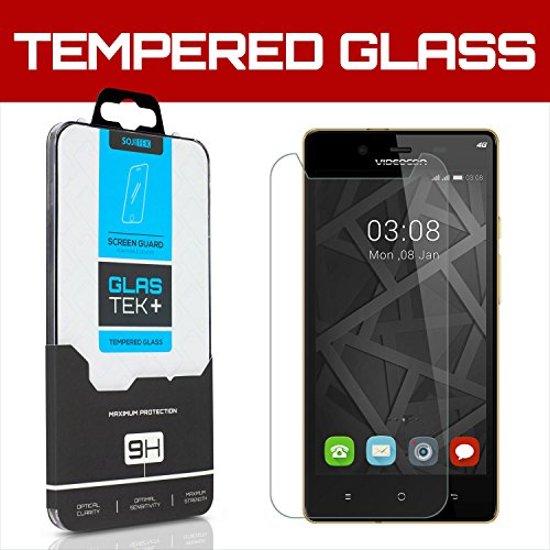 Sojitek Videocon Infinium Z55 Krypton Premium Ballistic Tempered Glass Screen Protector With Lifetime Replacement Warranty   Ultra Clear 99 99  Clarity And Touchscreen Accuracy Smart Film
