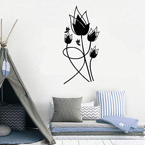 (Kuari Quotes Wall Sticker Mural Decal Art Home Decor Tulipes Rouges for Living Room Bedroom)