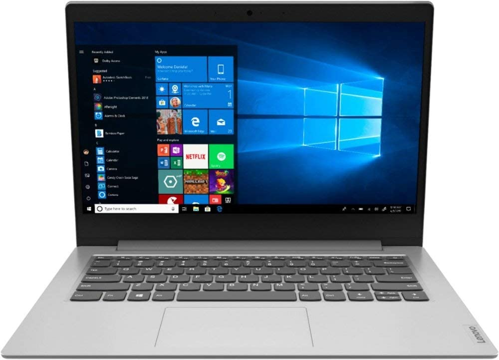Lenovo IdeaPad 14.0-inch Laptop Computer, 7th Gen AMD A6-9220e up to 2.4GHz, 4GB RAM, 64GB Storage, HDMI, WiFi, Bluetooth, AMD Radeon R4, One-Year Office 365 Included, Windows 10 w/Mazery Mousepad