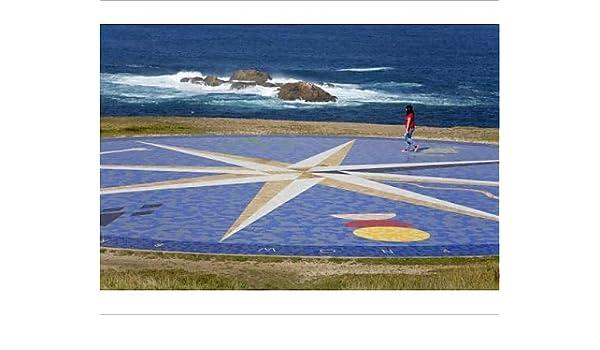 Brújula para azulejos de diseño de objetos de Hercules Lighthouse de La torre de, La Coruña City, Galicia: Amazon.es: Hogar