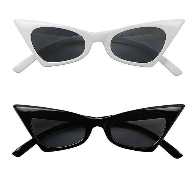 Amazon.com: ShadyVEU - Gafas de sol de ojo de gato, estilo ...