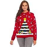 YOU LOOK UGLY TODAY Ladies Ugly Christmas Sweater Mens Santa Xmas Top Xmas Tree