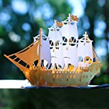 3D Pop Up Cards Yellow Boat, Birthday card, Wedding card, Anniversary card, Thank You card, Any Occasion
