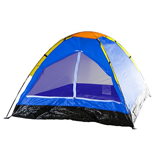 2-Person Tent, Dome Tents for Camping with Carry Bag by Wakeman Outdoors (Camping Gear for Hiking, Backpacking, and Traveling) - BLUE
