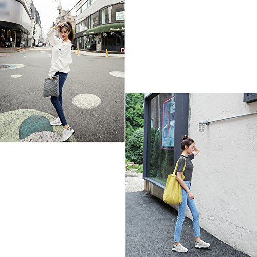 5 Tamaño Libre Eu36 Fondo 230mm De l Primavera 5 Mujer Liangjun Negro Cordones uk4 Aire Tamaños Zapatos Grueso Zapatillas Al Negro color aZqwRvBP