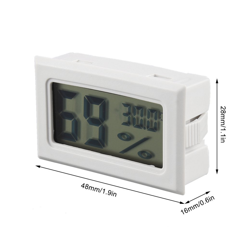 Hemore Mini Digital LCD Thermometer Hygrometer Humidity Temperature Meter Indoor Home Garden Outdoors Security Lighting