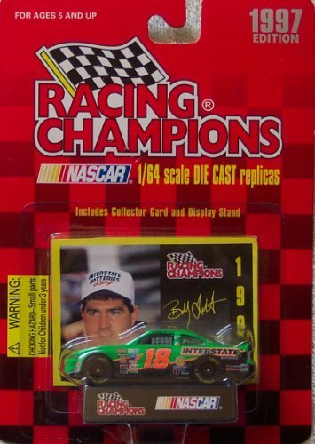 Racing Champions 1997 Bobby Labonte #18 Interstate Batteries 1:64 Scale Die Cast Car with Collector Cars and Display Stand