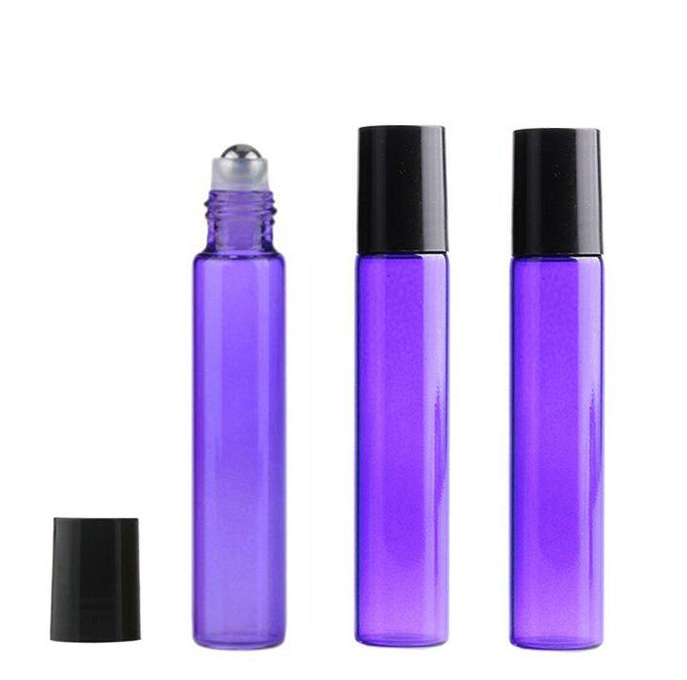 一番の 10 ml Roll 10パックカラフルなガラスローラーボトルFragrance Essential Oil ml Perfume 10 Roll On空ボトル詰め替え可能旅行化粧品ローション液体メタルローラーボールボトルコンテナ パープル パープル B077R6BCGR, カラーマーキングファクトリー:afb55009 --- a0267596.xsph.ru
