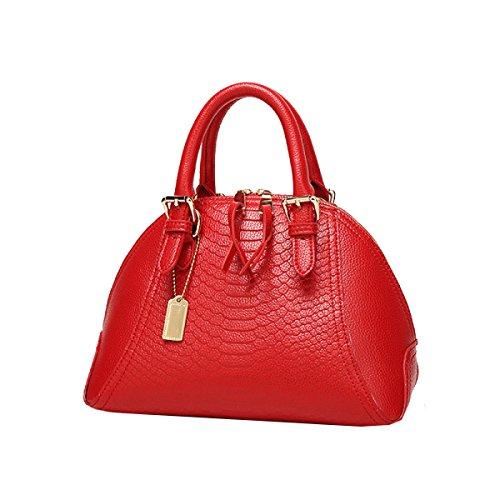 Yy.f Nuevo Moda Bolsas De Moda La Bolsa De Cáscara Serpentina Bolsos De Mano Bolsos De Hombro Bolso De Cuero De La PU Bolsas De 3 Colores Red