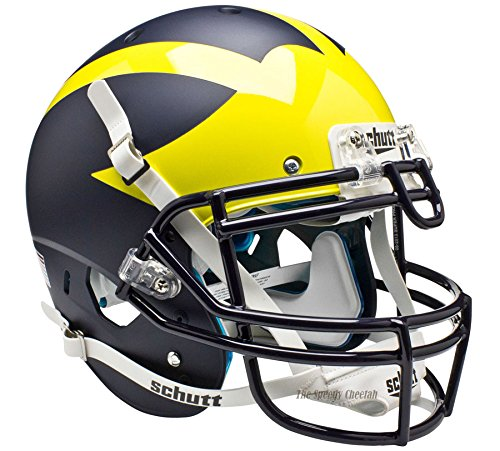 NCAA Michigan Wolverines Authentic Helmet, One Size, White by Schutt