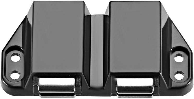 Sourcing Map Loquet magn/étique pour porte de placard Double Black-2pcs