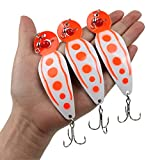YONGZHI Fishing Lures Metal Casting Trolling Jigging Spoons Spinners Baits Lures for Trout Salmon Walleye Northern Pike and Largemouth Bass in Freshwater and Saltwater Fishing Spoons (5.89inch)
