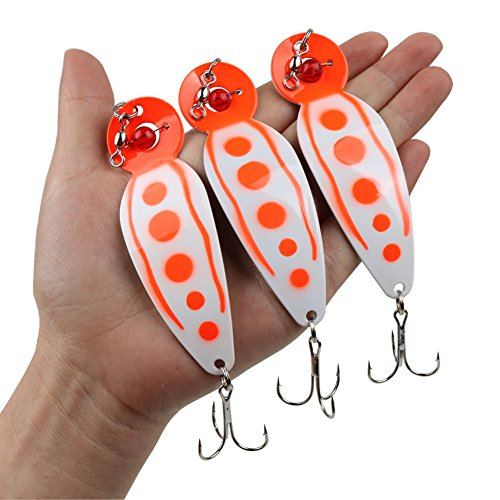 Salmon Trolling Spoon (Fishing Lures Metal Casting Trolling Jigging Spoons Spinners Baits Lures for Trout Salmon Walleye Northern Pike and Largemouth Bass in Freshwater and Saltwater Fishing Spoons (5.89inch))