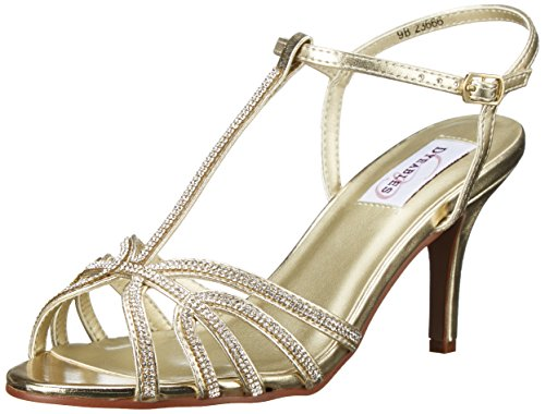 Gold Dress Womens Inc Metallic Dyeables Sandal Lexi 7BaXpwxnq