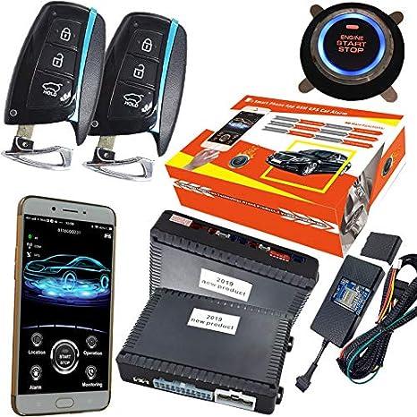 KUNFINE GPS Seguridad Inteligente Coche Alarma Pasivo Sin ...