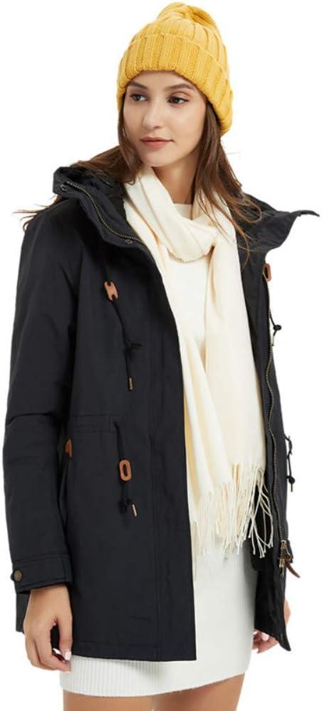 スキージャケット 女性の屋外防水ジャケット山防風デザイン軽くて暖かい快適なフリースライニング ハイキングキャンプの散歩に最適 (色 : ブラック, サイズ : XXL) ブラック XX-Large