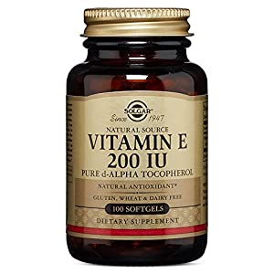 Solgar Vitamin E 200 IU Pure d Alpha,100 Softgels