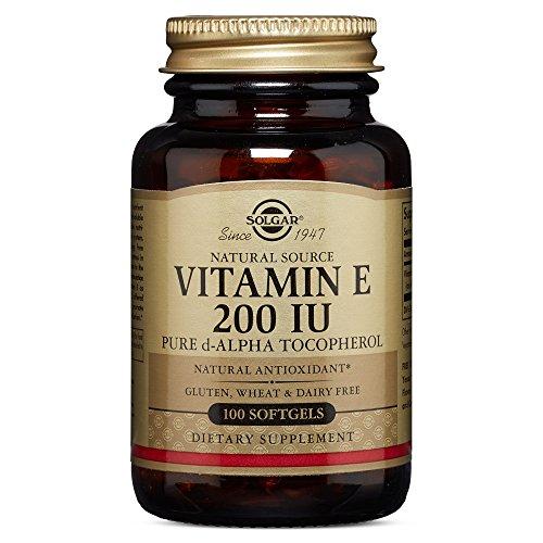 Solgar Vitamin E 200 IU Pure d Alpha,100 Softgels