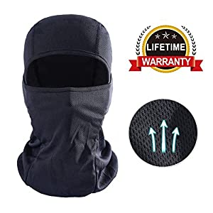DUWOEXT Balaclava Breathable Motorcycle Face Mask Lightweight Adjustable Full Face Mask for Skiing, Cycling, Running, Fishing, Outdoor Tactical training, Wind Dust Pollution Rain Sun Protection