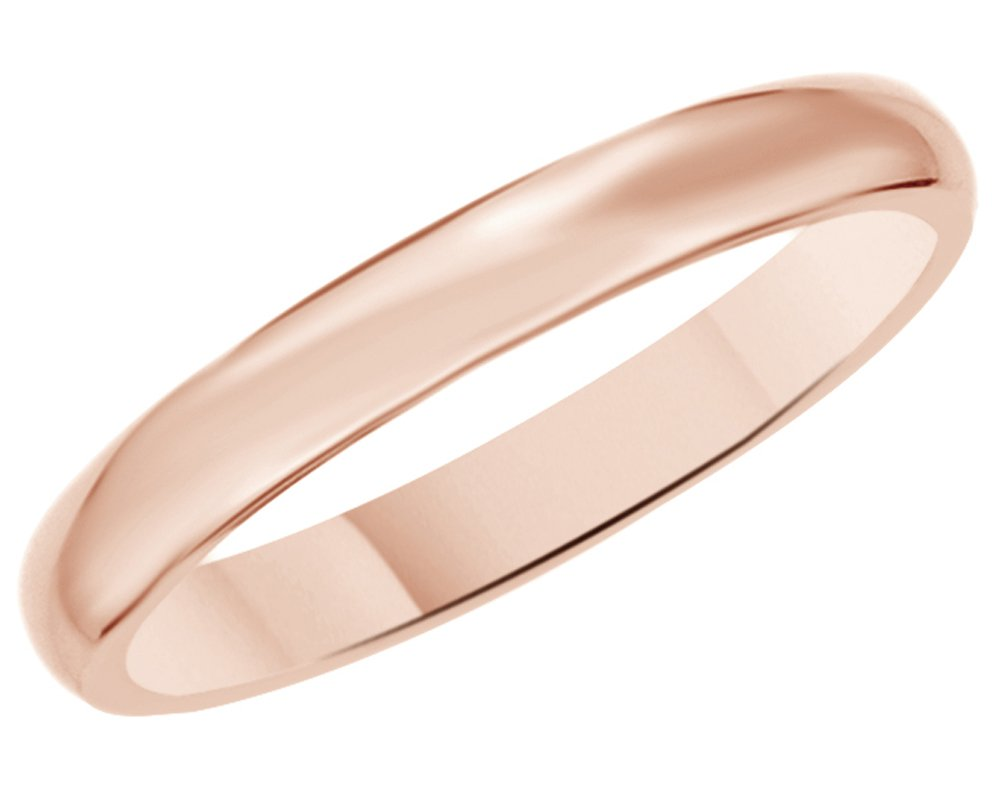 Solid 14K Yellow Gold 3mm Comfort Fit Men & Women Wedding Band Ring